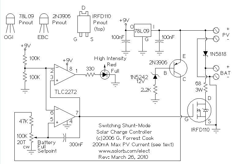 solar charge controller circuit diagram – comvt, Wiring circuit