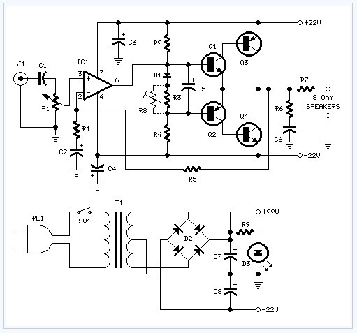 18w Audio Amplifier Electronic Circuit Amplifier