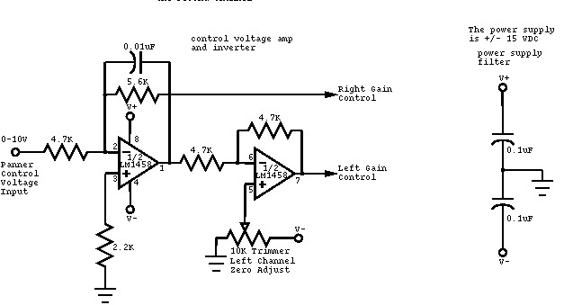 voltage controlled panner - control circuit