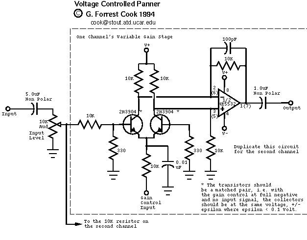 voltage controlled panner control circuit circuit diagram rh seekic com