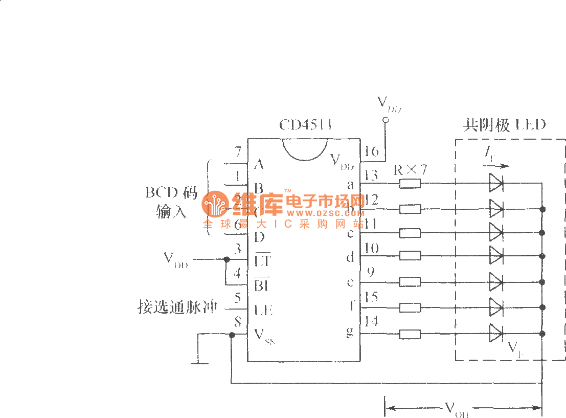 The Typical Wiring Of Cd4511 Drive Common Cathode Led Digital Tube Digitaltheremin Basiccircuit Circuit Diagram Seekiccom