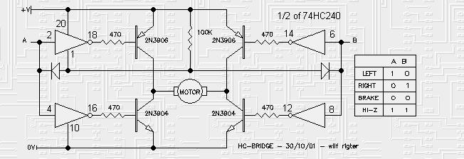 inverter buffered h bridges basic circuit circuit. Black Bedroom Furniture Sets. Home Design Ideas