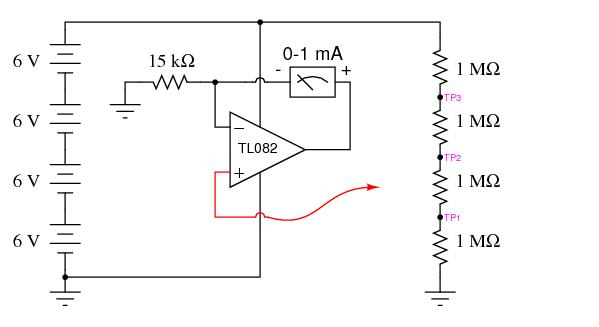 high-impedance voltmeter 2 - measuring and test circuit - circuit diagram