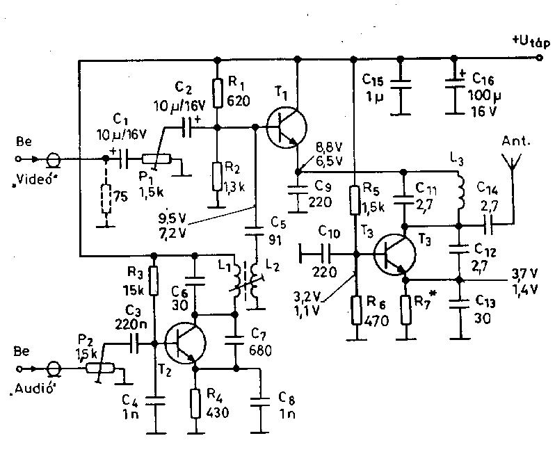 500mhz video signal transmitter