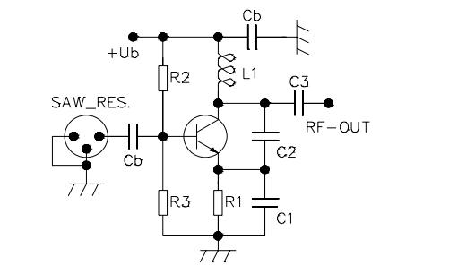 colpitts oscillator with common base - signal processing - circuit diagram