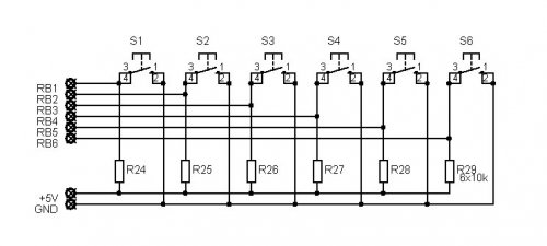 pic16f84a discolight effect with bass beat control - led and light circuit
