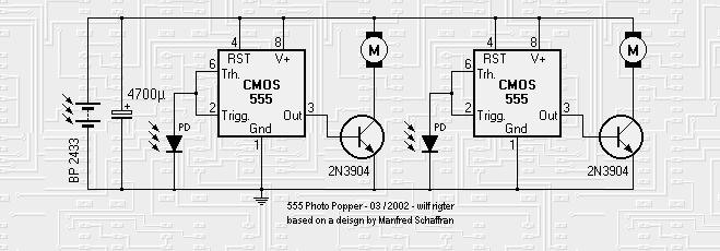 555-based photopoppers 2 - basic circuit