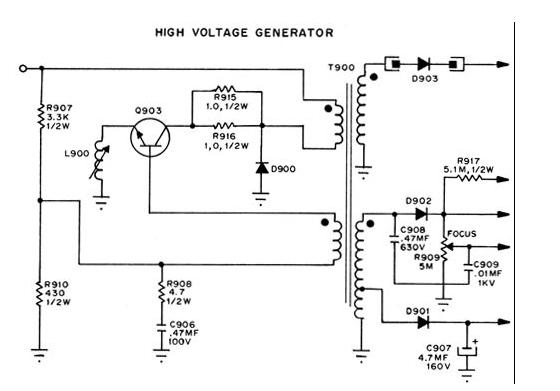 high voltage generators power supply circuit circuit. Black Bedroom Furniture Sets. Home Design Ideas