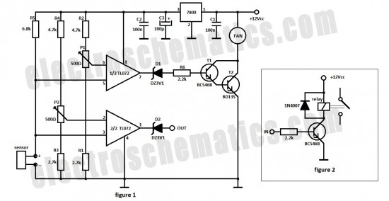 automatic fan controller - basic circuit
