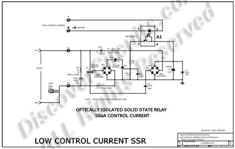 solid state relay requires only 50ua drive current circuit. Black Bedroom Furniture Sets. Home Design Ideas