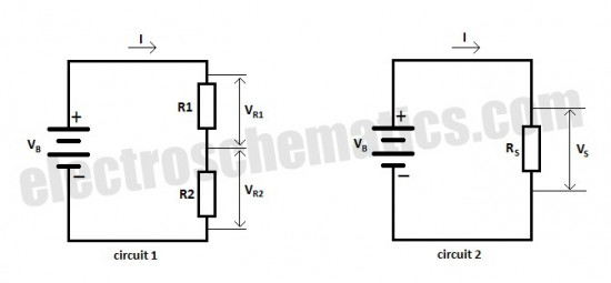 resistors in series - basic circuit
