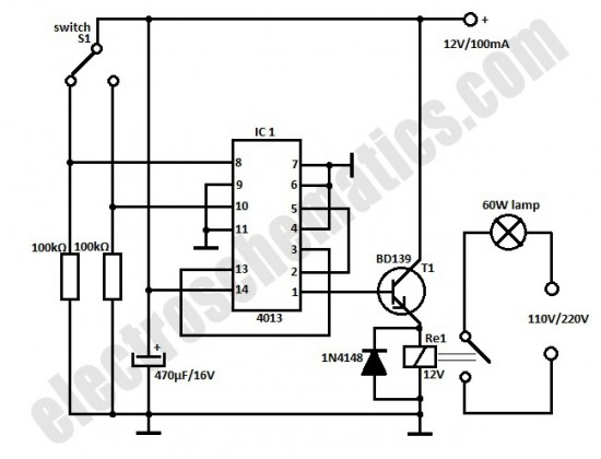 automatic door light switch - control circuit