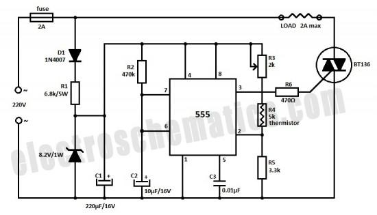 555 temperature controller circuit - 555 circuit
