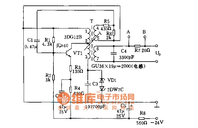 1 8khz signal generator circuits - signal processing - circuit diagram