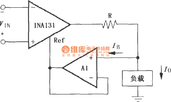 constituted by the ina131 differential voltage - current conversion circuit