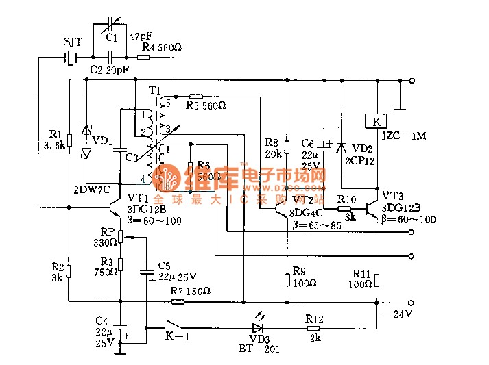 high-frequency signal generator circuit - signal processing - circuit diagram