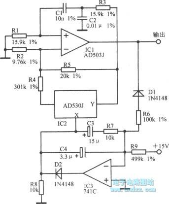 lkHz low-distortion oscillator circuit