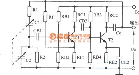 RC bridge oscillator and its equivalent circuit