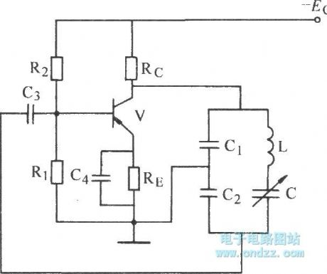 Improved capacitance feedback oscillator circuit