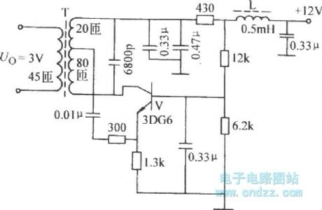 Common-emitter inductor feedback oscillator circuit