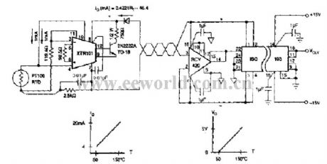 index 53 amplifier circuit circuit diagram seekic comtemperature sensor isolation amplifier circuit