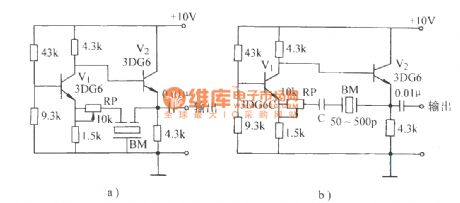 Ceramic filter oscillator circuit