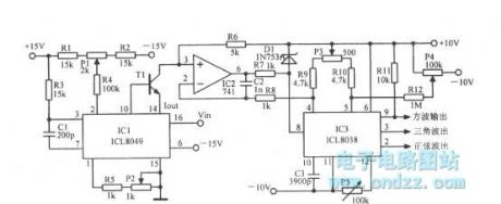Logarithmic sweep voltage controlled oscillator