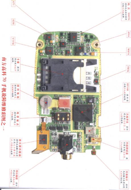 Soutec 70 mobile phone repairing diagram 1
