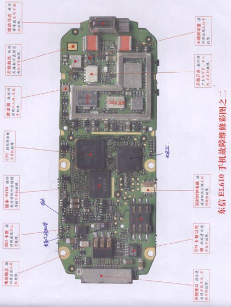 Eastcom EL610 mobile phone repairing diagram 2