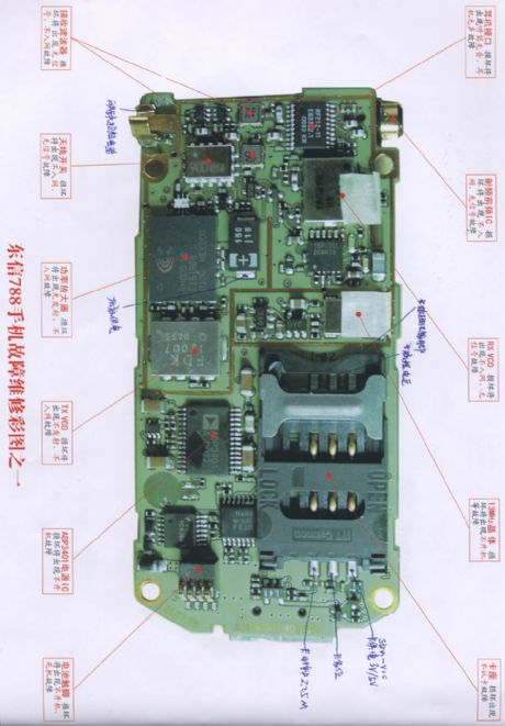 Eastcom 788 mobile phone repairing diagram 1