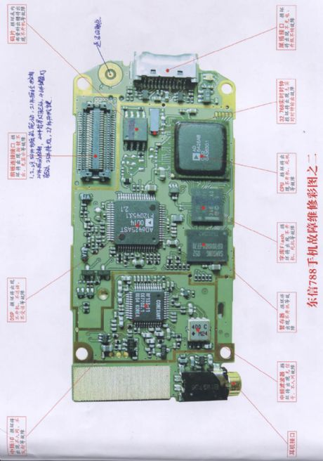 Eastcom 788 mobile phone repairing diagram 2