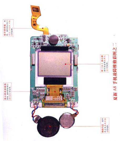 Amoisonic A8 cell phone fault maintaining diagram 2