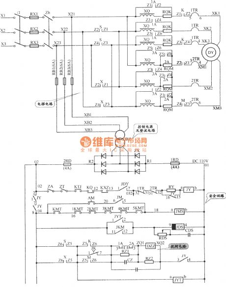 APM-81 The main circuit of elevator, safety loop and dlectrical circuit