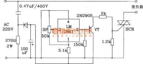 Start refrigeration equipment temperature control circuit composed of LM3911 monolithic temperature control IC