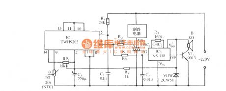 Cold shutoff temperature control circuit with TWH9205