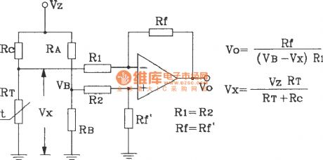 Temperature-voltage transform circuit composed of precision temperature sensor