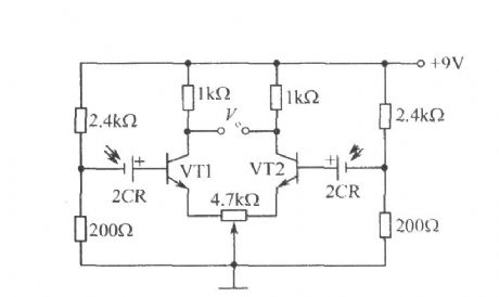Photoelectric tracking circuit composed of silicon photocell