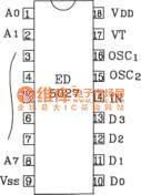 Infrared remote control code decoding circuit composed of ED5026/5027