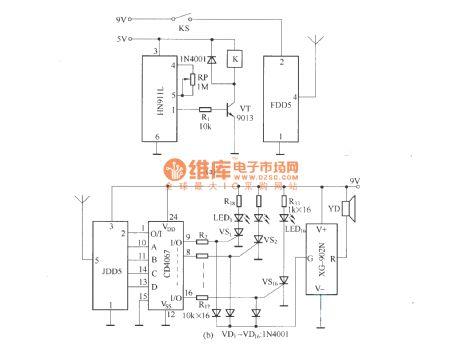 index 444 circuit diagram seekic comfifth way wireless burglar alarm system (fdd5 jdd5) circuit diagram