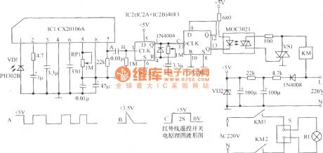 Novel infrared remote control switch circuit diagram