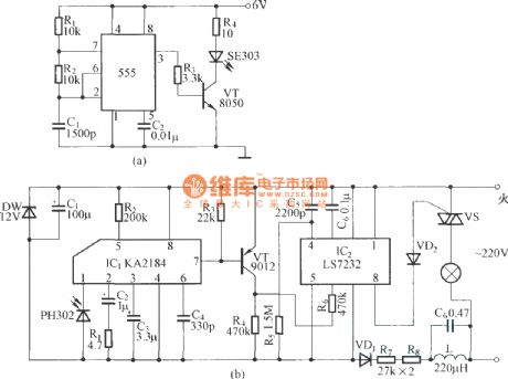 IR remote control dimmer light circuit diagram