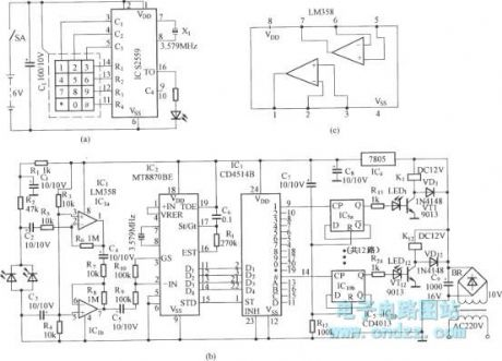 DTMF Multi-channel code, decoding infrared remote control circuit