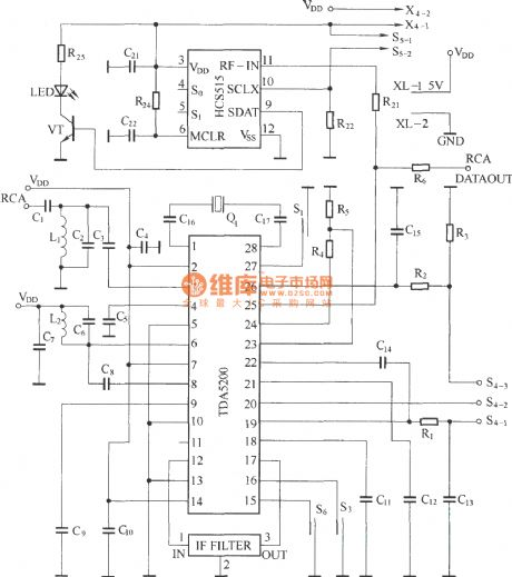 Heterodyne remote control receiving circuit diagram