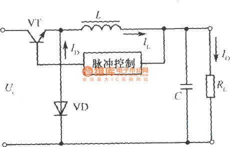 Reduced voltage type chopping type switching stabilized voltage supply principle diagram