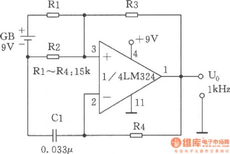 Ic Pinout Diagrams together with Solar Regulator Circuit Diagram additionally Heart Rate Monitor moreover Cd4049 Pinout in addition 1kHz Audio square wave generator. on lm324 pin diagram
