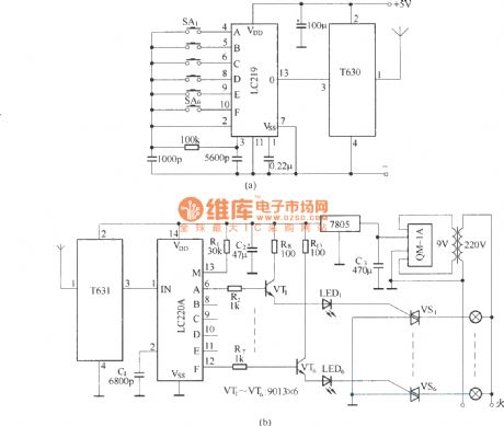 Wireless Car Remote Control Toy Remot e Circuit Diagram Wireless - Posed Of T630t631 Long Wave