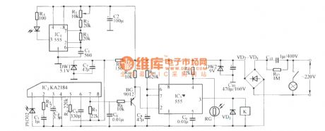 Infrared delay light switch circuit diagram