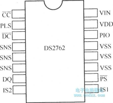 DS2762 pin array diagram