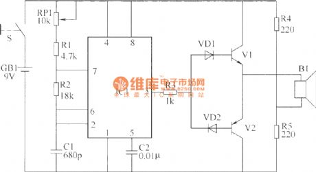Ultrasonic remote control switching circuit diagram