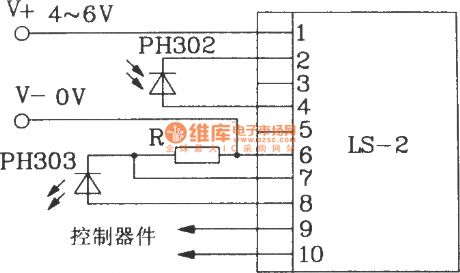 Direct infrared remote control switch circuit diagram composed of LS-2